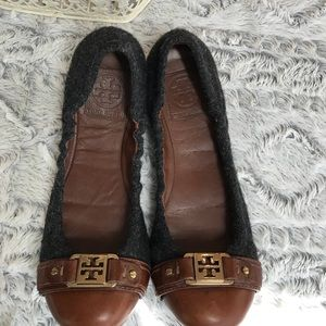 Tory Burch wool and leather shoes size 9